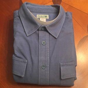 L.L. Bean Men's solid flannel - XL